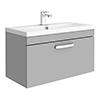 Brooklyn 800mm Grey Mist 1 Drawer Wall Hung Vanity Unit profile small image view 1