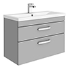 Brooklyn 800mm Grey Mist 2 Drawer Wall Hung Vanity Unit profile small image view 1