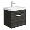Brooklyn 500 Black Wall Hung 1-Drawer Vanity Unit with Thin-Edge Basin profile small image view 1
