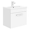 Brooklyn 500mm Gloss White Wall Hung 1-Drawer Vanity Unit profile small image view 1