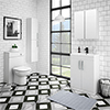 Brooklyn Gloss White Vanity Furniture Package profile small image view 1