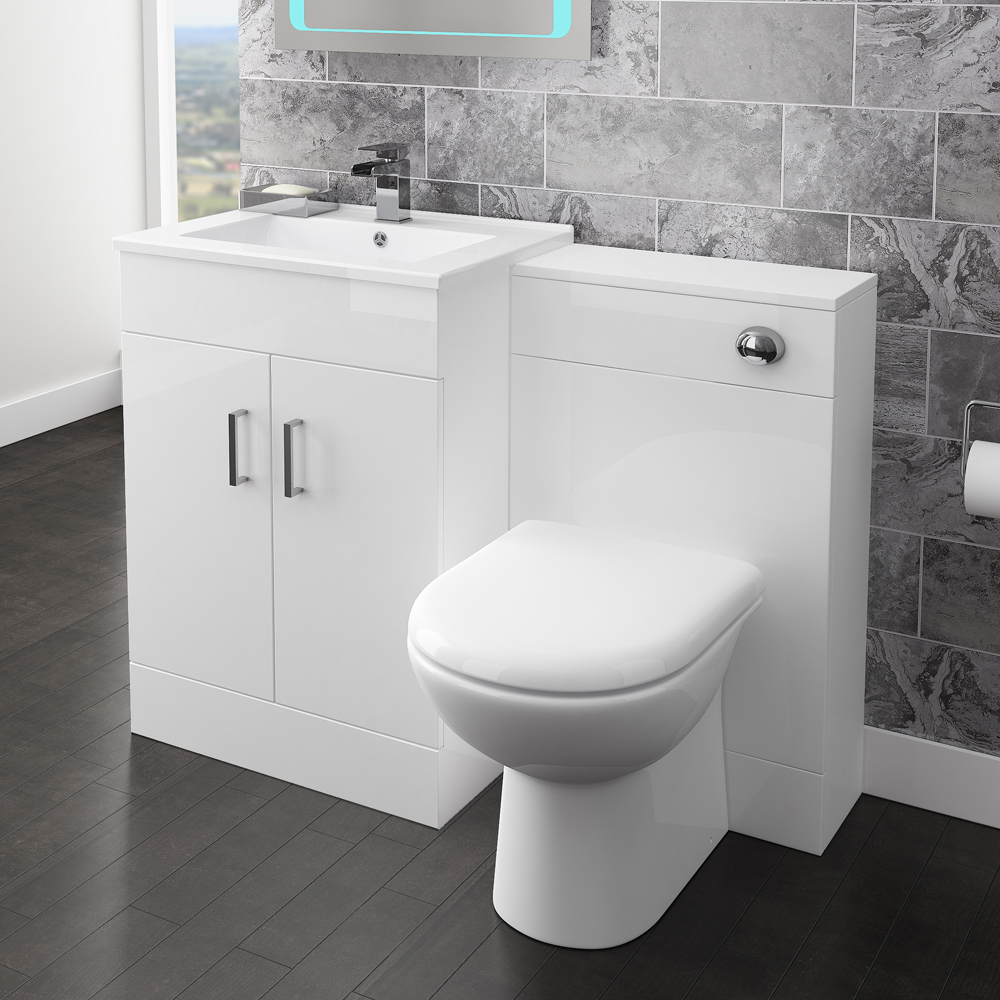 Back To Wall Toilet with Soft Close Seat + Concealed Cistern Profile Large Image