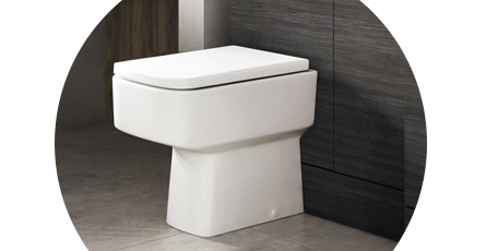 Back to wall toilet with concealed cistern