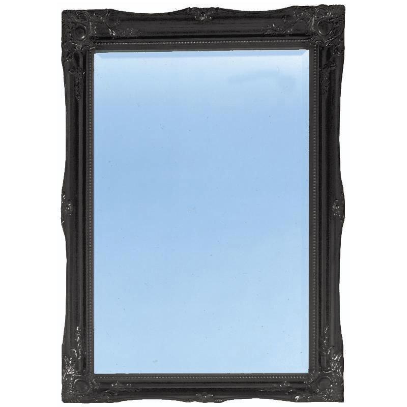 Heritage Balham Mirror (910 x 660mm) - Onyx Black Large Image