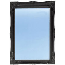 Heritage Balham Mirror (910 x 660mm) - Onyx Black Medium Image