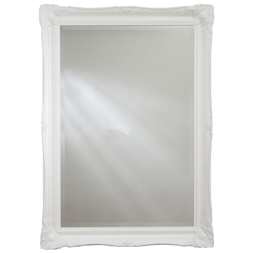 Heritage Balham Mirror (910 x 660mm) - White Large Image