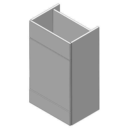 Balterley Zahra 500mm Cistern Base Cabinet - White Gloss