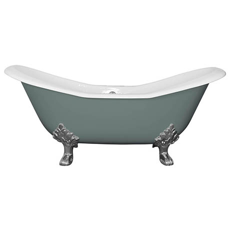 JIG Banburgh Large Cast Iron Roll Top Bath (1825x780mm) with Feet