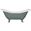 JIG Banburgh Large Cast Iron Roll Top Bath (1825x780mm) with Feet profile small image view 1
