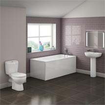Barmby 5 Piece 1TH Bathroom Suite Medium Image