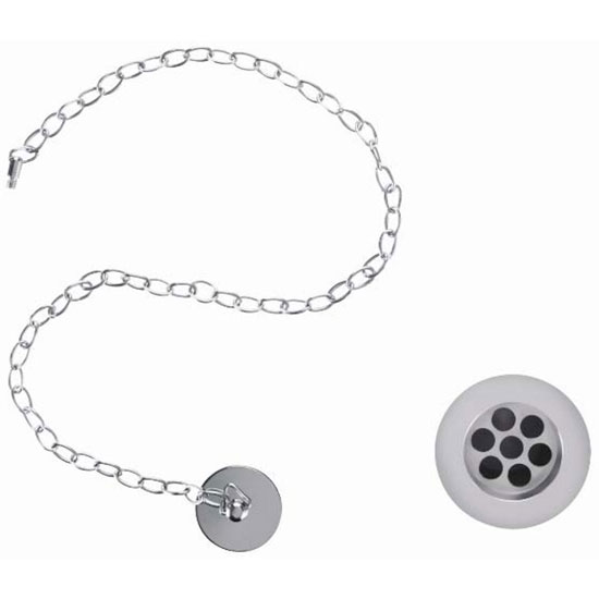 Burlington Basin Plug and Chain (slotted) - W1 Large Image
