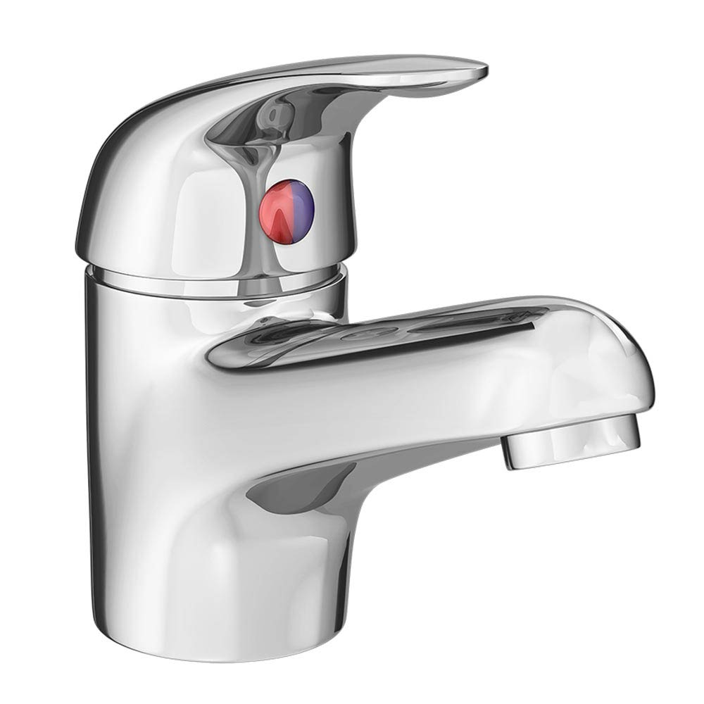 Modern Single Lever Basin Tap with Waste - Chrome - DTY305 Large Image