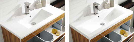 Minimalist and Mid-Edged Basin styles