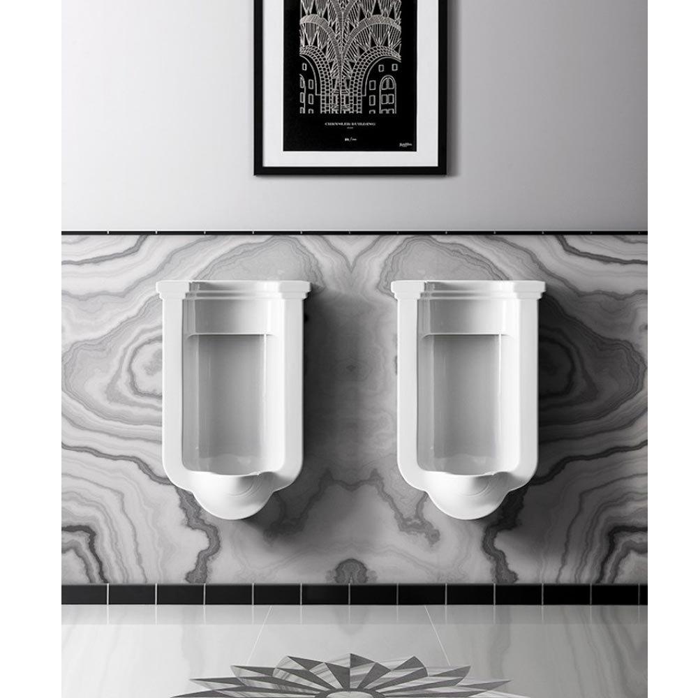 Bauhaus Waldorf Art Deco Wall Hung Urinal profile large image view 3