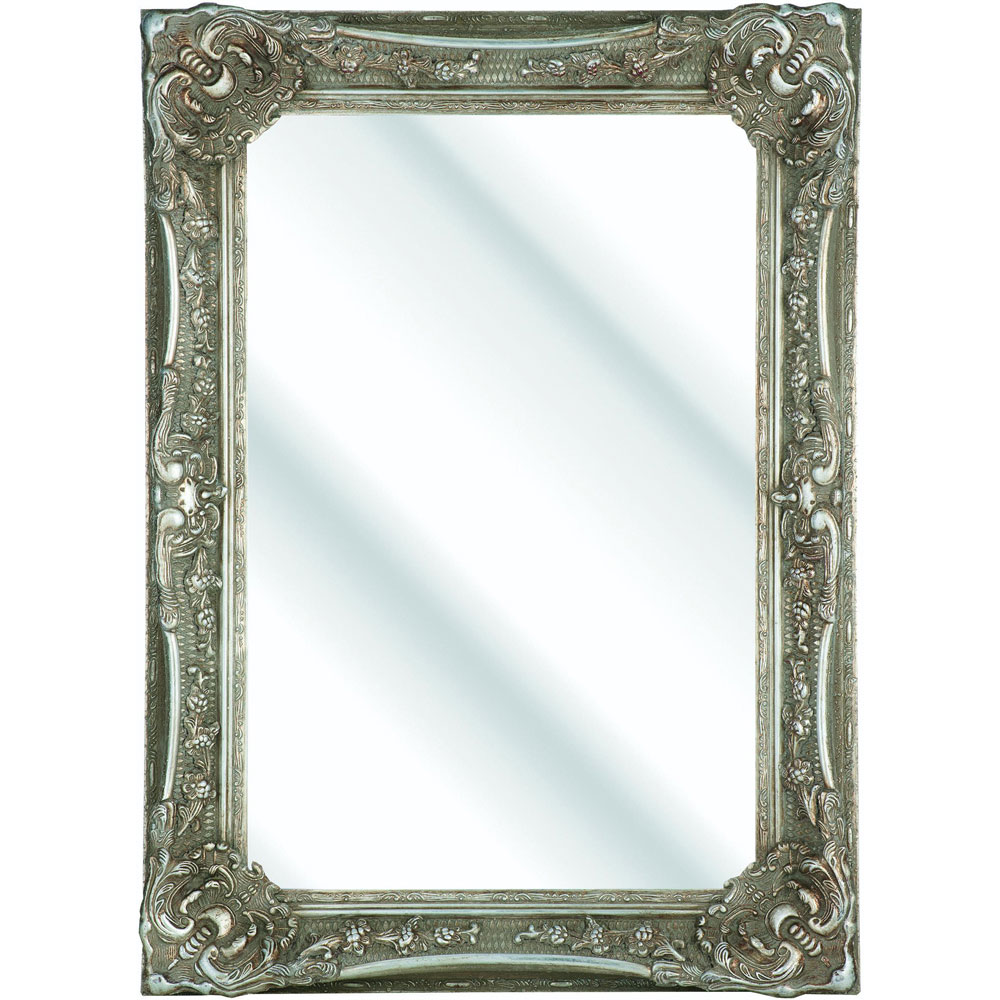 Heritage Bayswater Mirror (1090 x 790mm) - Vintage Silver profile large image view 1