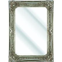 Heritage Bayswater Mirror (1090 x 790mm) - Vintage Silver Medium Image