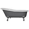 JIG Beaulieu Cast Iron Roll Top Slipper Bath (1720x740mm) with Feet profile small image view 1