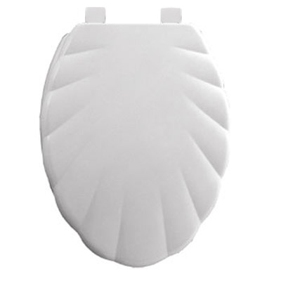 Bemis - 5900AR Shell Design Toilet Seat - White - 5900AR000 profile large image view 1