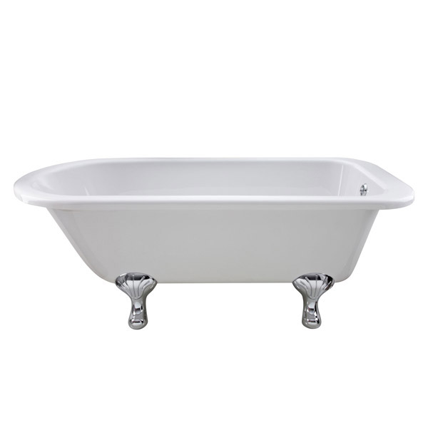 Premier Berkshire 1700 Single Ended Roll Top Bath Inc. Chrome Legs Feature Large Image