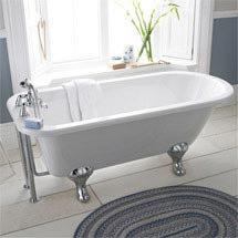 Premier Berkshire 1700 Single Ended Roll Top Bath Inc. Chrome Legs Medium Image