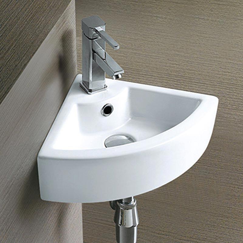 Bermuda Corner Cloakroom Basin 1TH - 325 x 325mm Profile Large Image