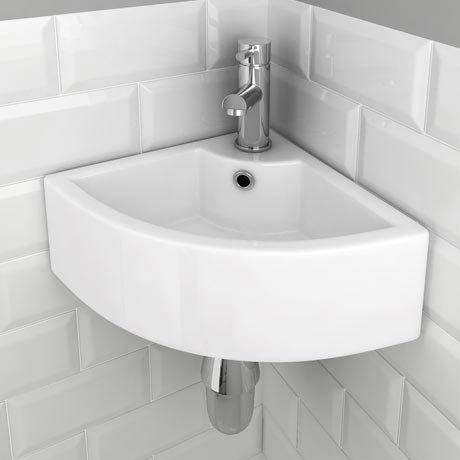 Bermuda Corner Cloakroom Basin 1TH - 325 x 325mm