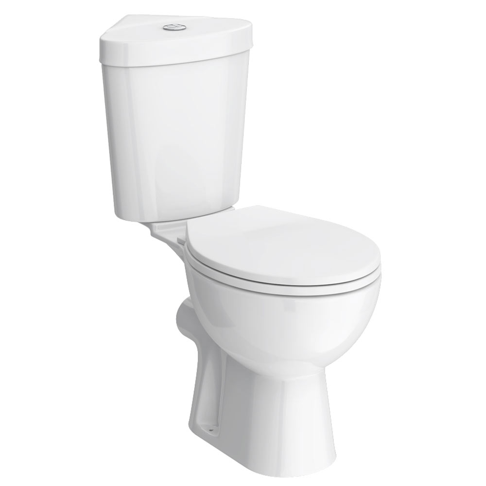 Bermuda Corner Toilet with Soft Close Seat profile large image view 1