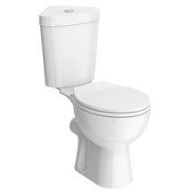 Bermuda Corner Toilet with Soft Close Seat Medium Image