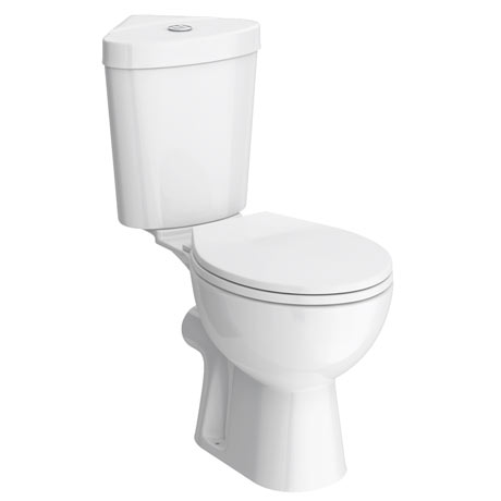 Bermuda Corner Toilet with Soft Close Seat