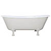 JIG Berwick Cast Iron Roll Top Bath (1720x680mm) with Feet profile small image view 1