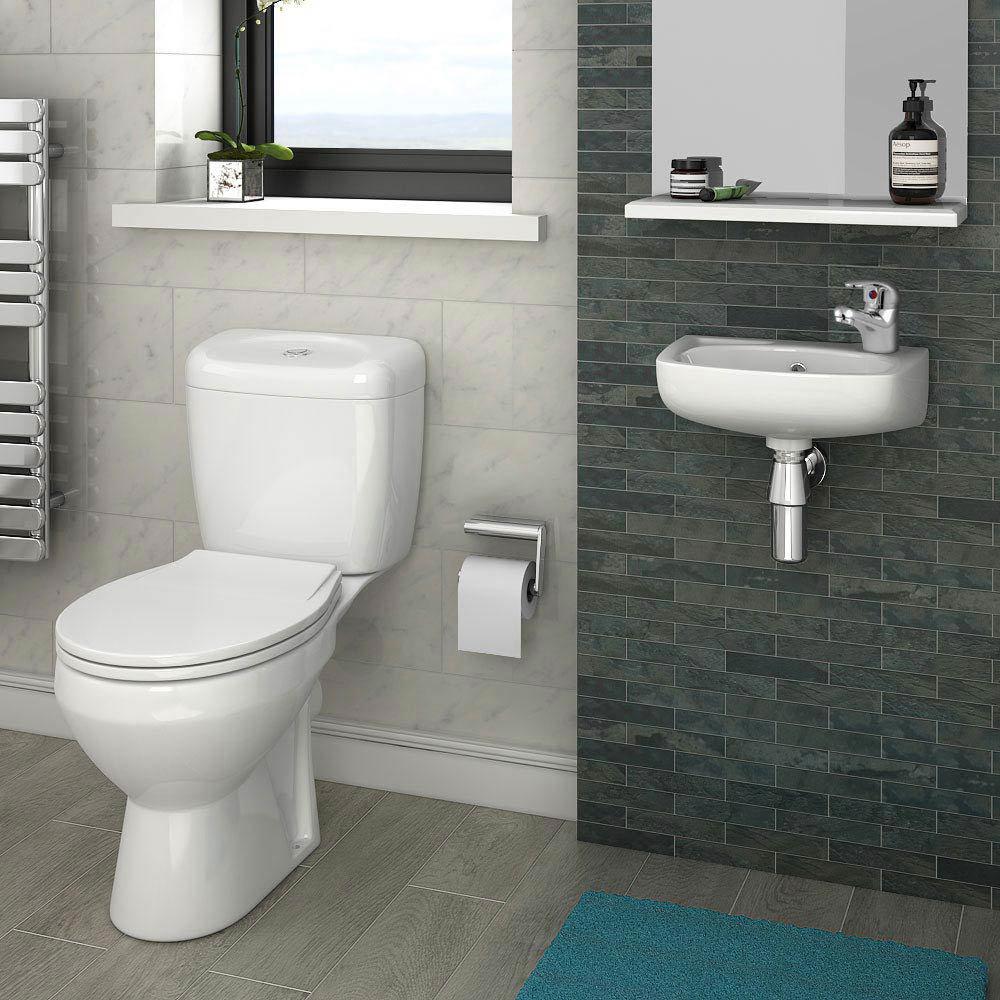 Bi-Fold Shower Enclosure and En-Suite Set - 3 Size Options  In Bathroom Large Image