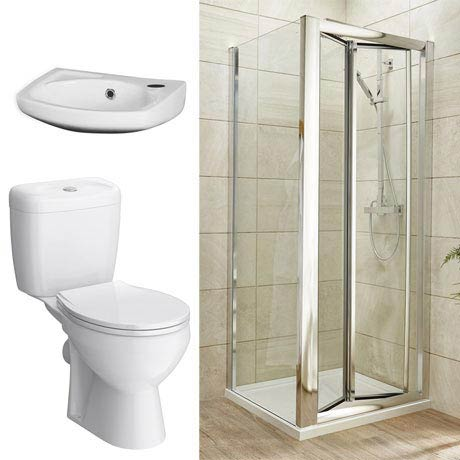 Bi-Fold Shower Enclosure and En-Suite Set - 3 Size Options
