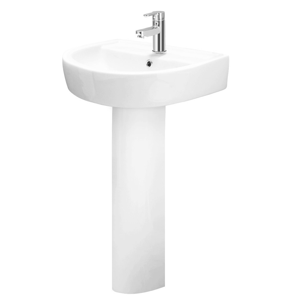 Bianco Bathroom Suite with Single Ended Bath - 3 Bath Size Options Feature Large Image