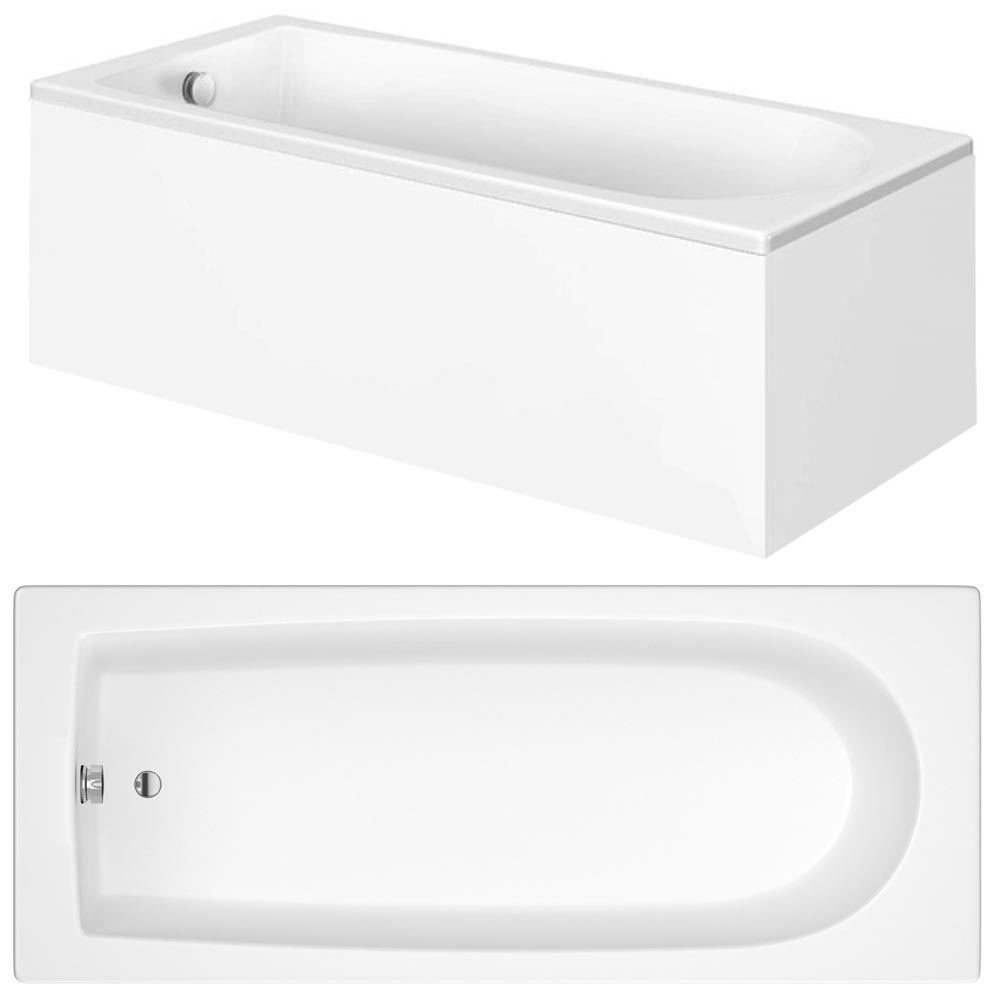 Bianco Bathroom Suite with Single Ended Bath - 3 Bath Size Options Standard Large Image