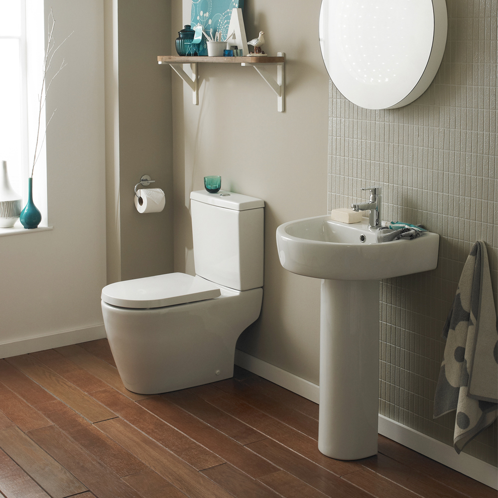 Bianco Bathroom Suite with Orlando Corner Bath Feature Large Image