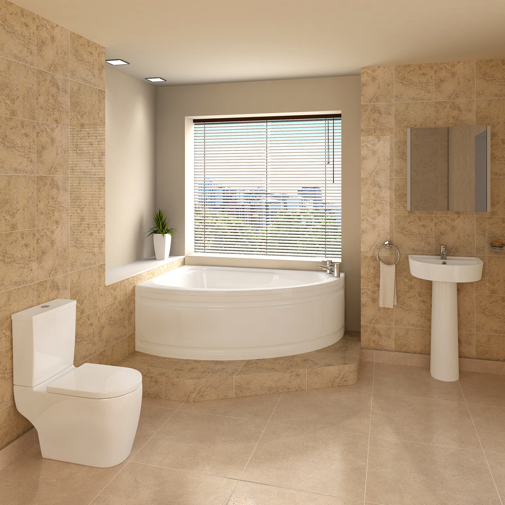 Bianco bathroom suite with orlando bath victorian for Bathroom ideas shower only