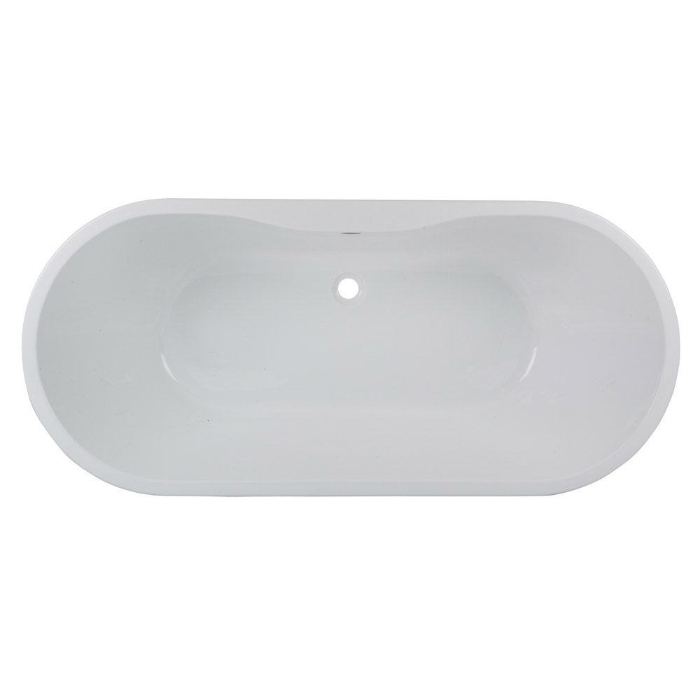 Bianco Double Ended Curved Freestanding Bath Suite Standard Large Image