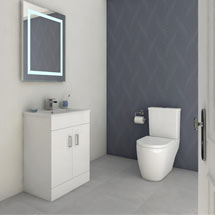 Bianco Gloss White Floorstanding Vanity Unit + Close Coupled Toilet Medium Image