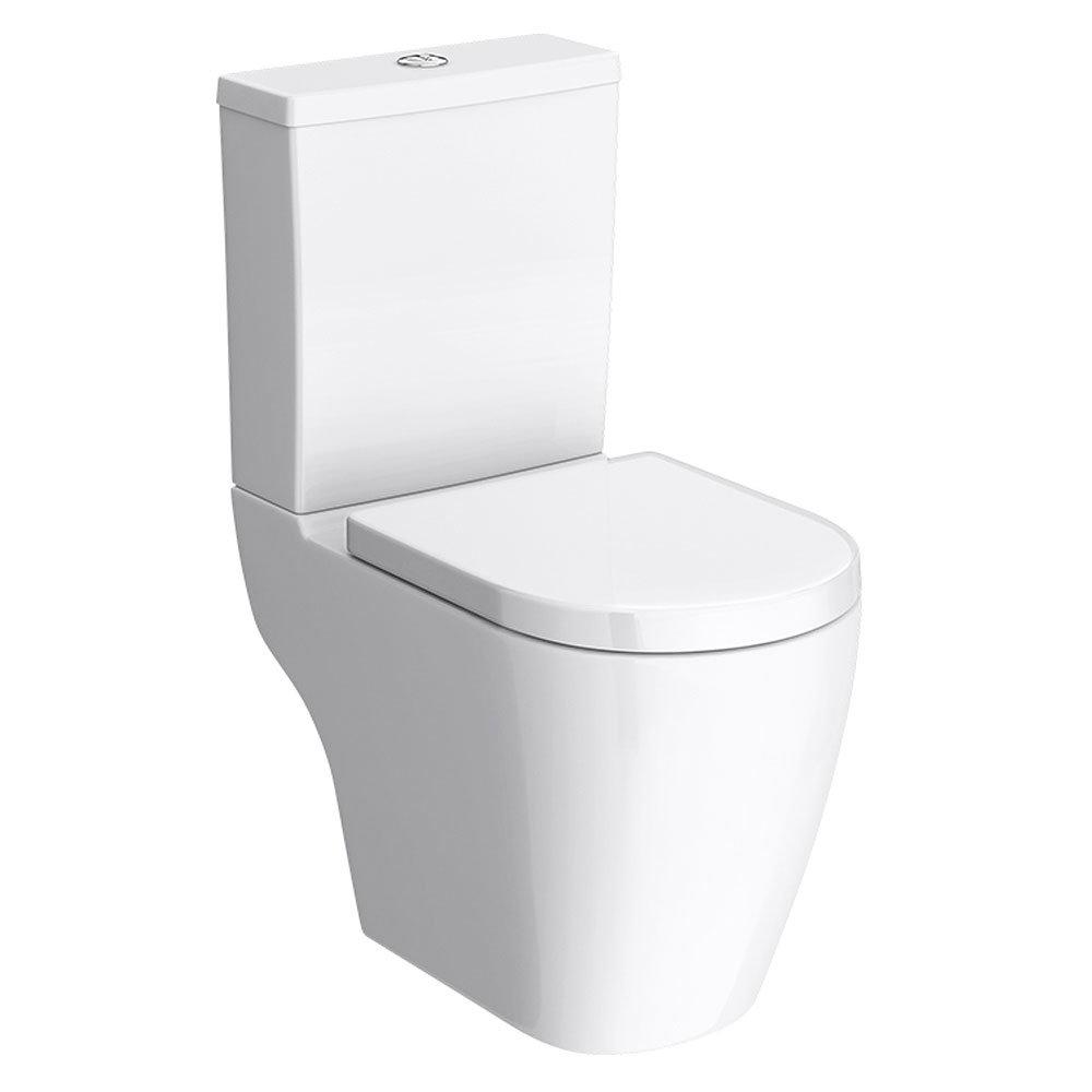 Bianco Gloss White Floorstanding Vanity Unit with Close Coupled Toilet Profile Large Image