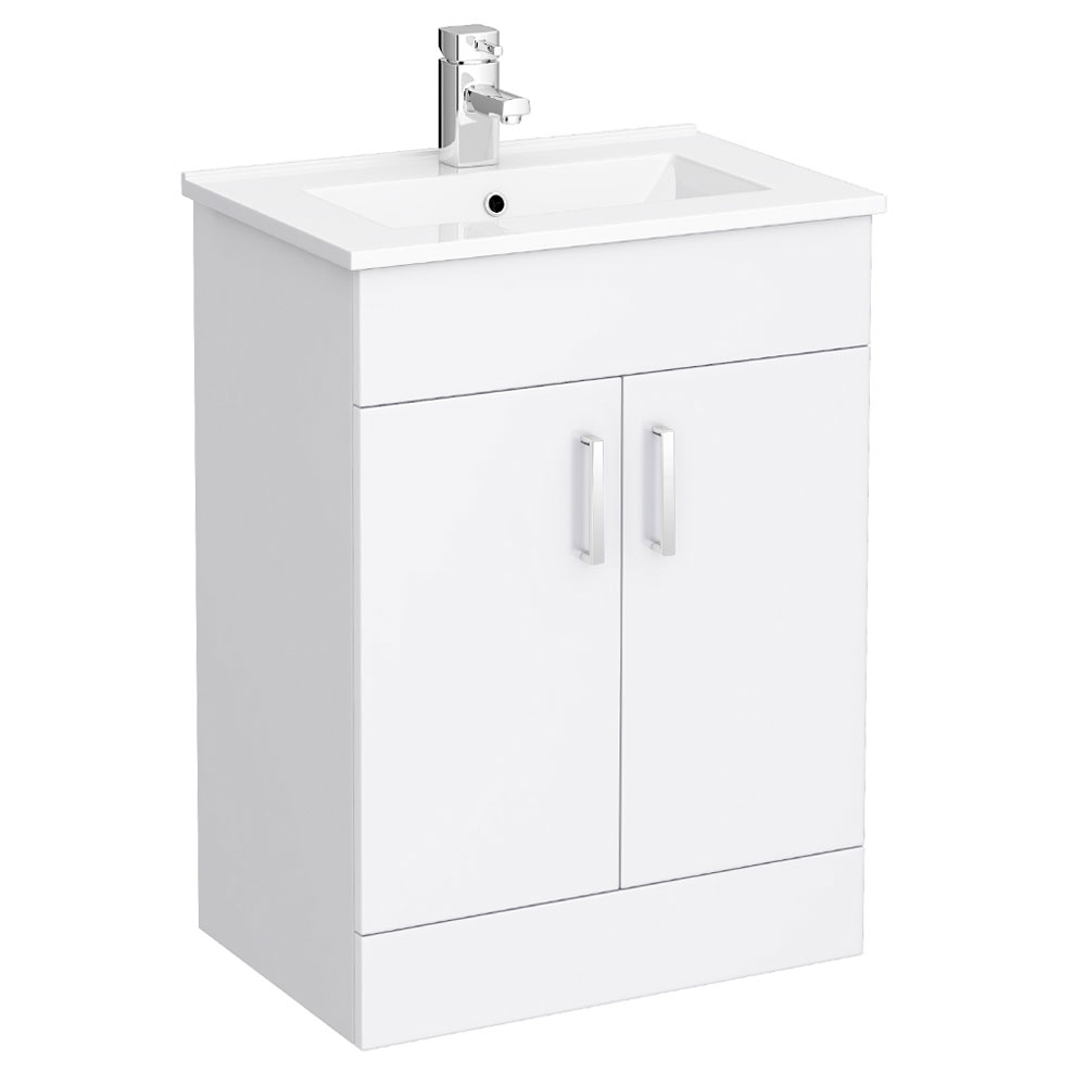 Bianco gloss white vanity unit with close coupled toilet for White gloss bathroom vanity unit