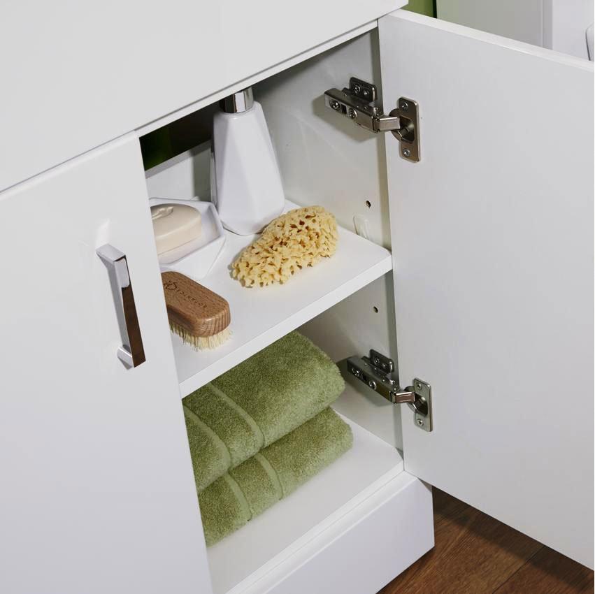 Bianco Gloss White Floorstanding Vanity Unit with Close Coupled Toilet Standard Large Image