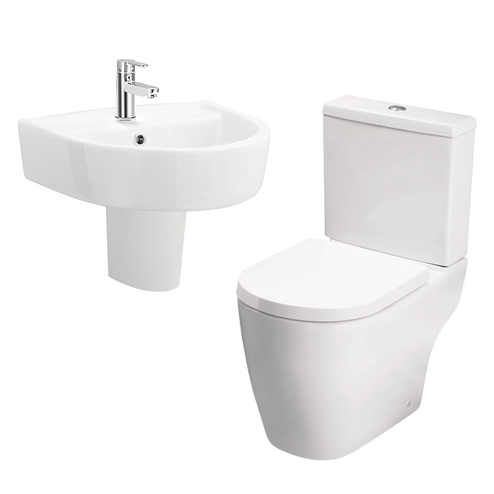 Bianco Modern Cloakroom Suite profile large image view 2