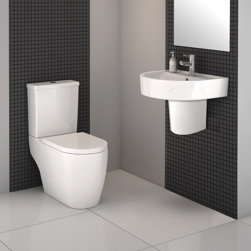 Bianco Modern Cloakroom Suite profile large image view 1