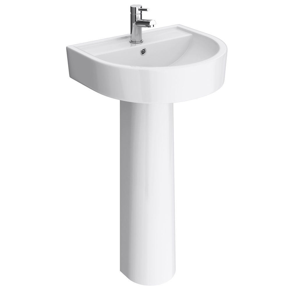 Bianco Round Basin 1TH with Full Pedestal Large Image
