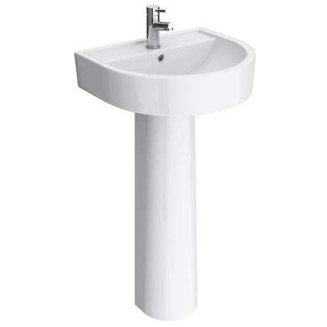 Bianco Round Basin 1TH with Full Pedestal