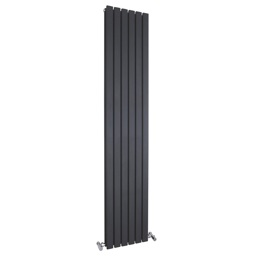 Bilbao Anthracite Double Panel Designer Radiator (1800 x 354mm) Large Image