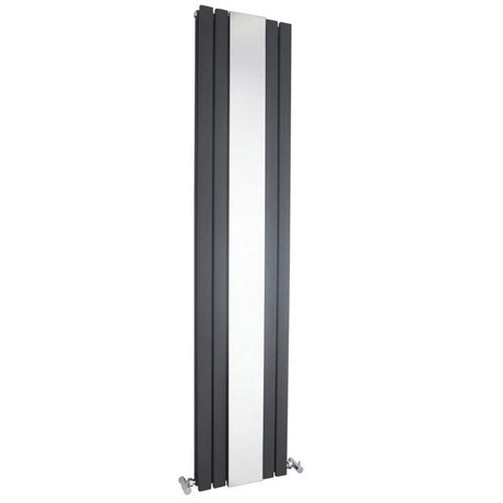 Bilbao Anthracite Double Panel Designer Radiator with Mirror (1800 x 381mm)