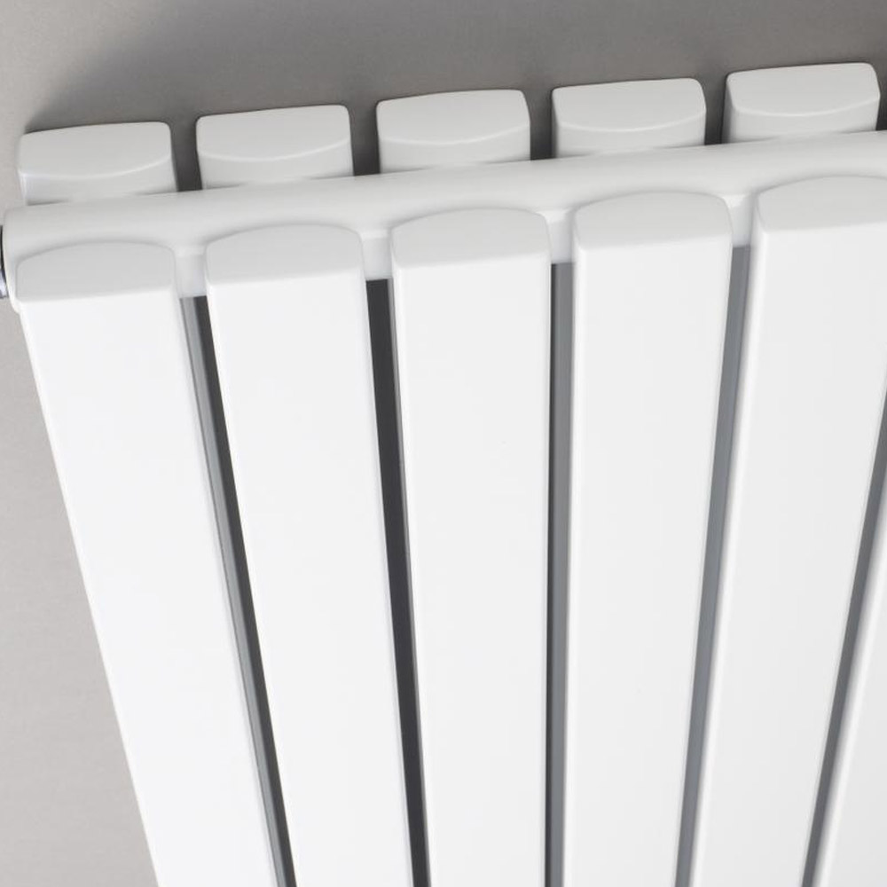 Bilbao White Double Panel Designer Radiator (1500 x 354mm) Profile Large Image