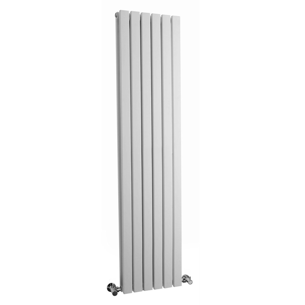 Bilbao White Double Panel Designer Radiator (1500 x 354mm) Large Image