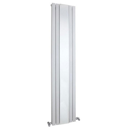 Bilbao White Double Panel Designer Radiator with Mirror (1800 x 381mm)